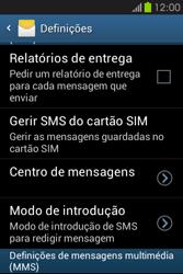 Samsung Galaxy Fame - SMS - Como configurar o centro de mensagens -  8
