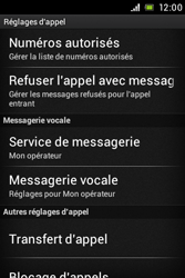 Sony ST21i Xperia Tipo - Messagerie vocale - Configuration manuelle - Étape 5