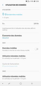 Samsung Galaxy A7 2018 - Internet et connexion - Désactiver la connexion Internet - Étape 7
