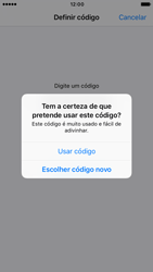Apple iPhone 6s iOS 10 - Segurança - Como ativar o código de bloqueio do ecrã -  8