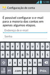 LG E612 Optimus L5 - Email - Como configurar seu celular para receber e enviar e-mails - Etapa 6