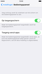 Apple iPhone 6 iOS 10 - iOS features - Bedieningspaneel - Stap 4