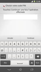 Sony Xpéria Z1 - Sécuriser votre mobile - Activer le code de verrouillage - Étape 8