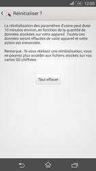 Sony Xperia E4g - Aller plus loin - Restaurer les paramètres d'usines - Étape 7