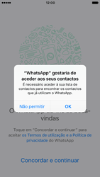 Apple iPhone 6 iOS 10 - Aplicações - Como configurar o WhatsApp -  5