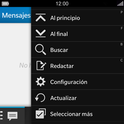 BlackBerry Q5 - Mensajería - Configurar el equipo para mensajes de texto - Paso 4