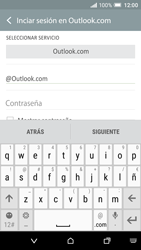 HTC One A9 - E-mail - Configurar Outlook.com - Paso 7