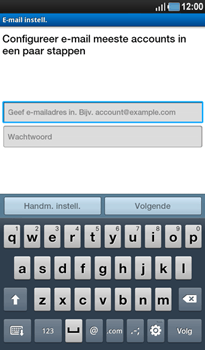 Samsung P1000 Galaxy Tab - E-mail - Handmatig instellen - Stap 6