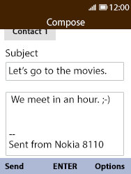 Nokia 8110 Banana - Email - Sending an email message - Step 9