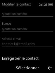 Nokia 3310 - Contact, Appels, SMS/MMS - Ajouter un contact - Étape 14