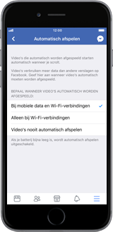 Apple iPhone 6 - iOS 11 - apps - deactiveer automatisch afspelen in Facebook - stap 9