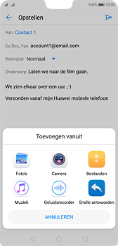 Huawei P20 Dual-SIM (Model EML-L29) - E-mail - Bericht met attachment versturen - Stap 10