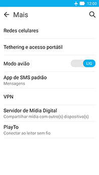 Asus Zenfone Go - Rede móvel - Como ativar e desativar o modo avião no seu aparelho - Etapa 6
