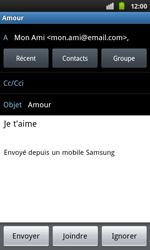 Samsung I9001 Galaxy S Plus - E-mail - envoyer un e-mail - Étape 7