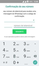 """Alcatel Pixi 4 (4"""") - Aplicações - Como configurar o WhatsApp -  9"""