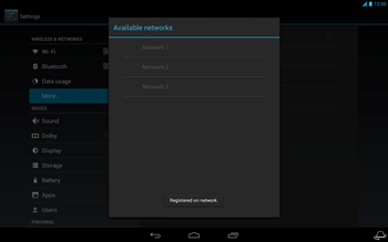 Acer Iconia Tab A3 - Network - Usage across the border - Step 12