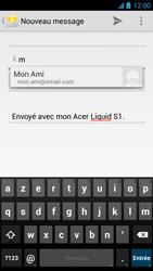 Acer Liquid S1 - E-mail - Envoi d