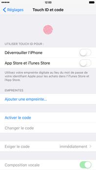 Apple iPhone 6s Plus - Sécuriser votre mobile - Activer le code de verrouillage - Étape 4