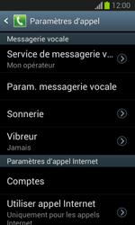 Samsung S7390 Galaxy Trend Lite - Messagerie vocale - Configuration manuelle - Étape 6