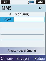 Samsung S5610 Primo - MMS - envoi d'images - Étape 8