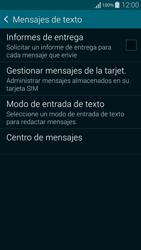 Samsung G850F Galaxy Alpha - Mensajería - Configurar el equipo para mensajes de texto - Paso 9