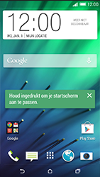 HTC Desire 816 - Internet - Populaire sites - Stap 1