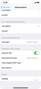 Apple iPhone X - E-mail - Handmatig instellen - Stap 25