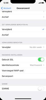 Apple iPhone X - E-mail - Account instellen (IMAP zonder SMTP-verificatie) - Stap 24