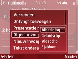 Nokia E63 - MMS - Afbeeldingen verzenden - Stap 10