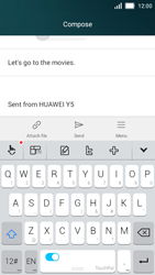 Huawei Y5 - Email - Sending an email message - Step 9