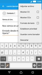 Sony Xperia M4 Aqua - E-mail - Escribir y enviar un correo electrónico - Paso 10