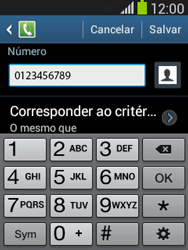 Samsung S5310B Galaxy Pocket Neo - Chamadas - Como bloquear chamadas de um número específico - Etapa 12