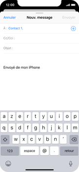Apple iPhone X - iOS 12 - E-mail - envoyer un e-mail - Étape 5