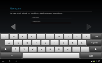 Sony SGP321 Xperia Tablet Z LTE - Applicaties - Account aanmaken - Stap 6