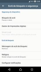 Sony Xperia XZ - Android Nougat - Segurança - Como ativar o código de bloqueio do ecrã -  5