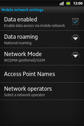 Sony ST27i Xperia Go - Network - Usage across the border - Step 6