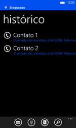Nokia Lumia 625 - Chamadas - Bloquear chamadas de um número -  7