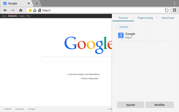 Samsung T805 Galaxy Tab S - Internet - Navigation sur Internet - Étape 8