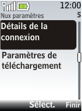 Nokia 2720 fold - E-mail - Configuration manuelle - Étape 15
