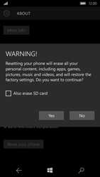 Microsoft Lumia 650 - Device - Reset to factory settings - Step 8
