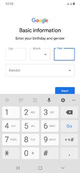 Samsung Galaxy A20e - Applications - Create an account - Step 9