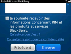 BlackBerry 9320 Curve - BlackBerry activation - BlackBerry ID activation - Étape 11
