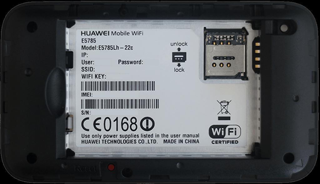 Huawei E5785L - Premiers pas - Noter les codes Wi-Fi - Étape 2