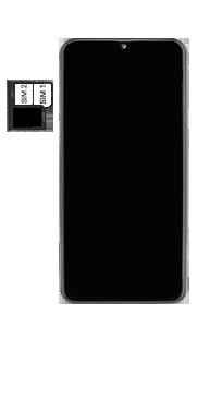 Samsung Galaxy A40 - Appareil - comment insérer une carte SIM - Étape 6