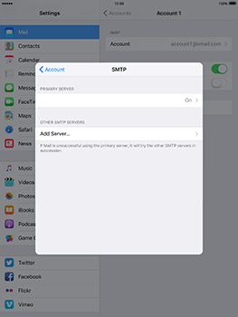 Apple iPad 4 iOS 10 - Email - Manual configuration - Step 24