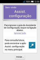 Alcatel POP C1 - Primeiros passos - Como ligar o telemóvel pela primeira vez -  4
