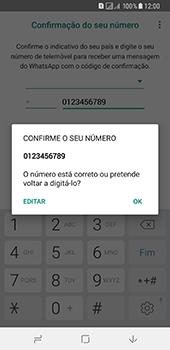 Samsung Galaxy A8 (2018) - Aplicações - Como configurar o WhatsApp -  10