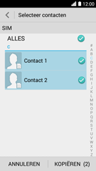 Huawei Ascend Y530 (Model Y530-U00) - Contacten en data - Contacten kopiëren van SIM naar toestel - Stap 7