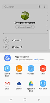 Samsung Galaxy S8 - Contactgegevens overzetten - delen via Bluetooth - Stap 9