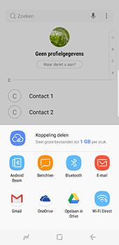 Samsung Galaxy S8 (G950) - Contacten en data - Contacten overzetten via Bluetooth - Stap 9